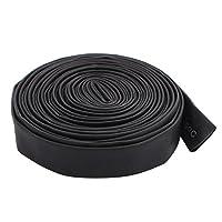 uxcell 熱収縮チューブ PVC 8mm直径 125C 電池ラップ ブラック 4.2M長