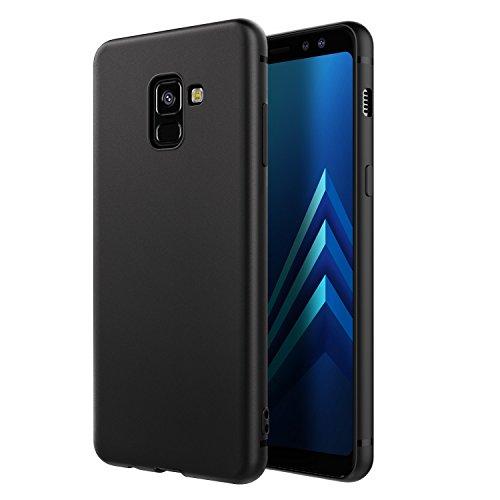 EasyAcc Hülle Hülle für Samsung Galaxy A8 2018, Weich TPU Matte Oberfläche Handyhülle Schutzhülle Schmaler Cover Kompatibel mit Samsung Galaxy A8 2018 / A530 - Schwarz