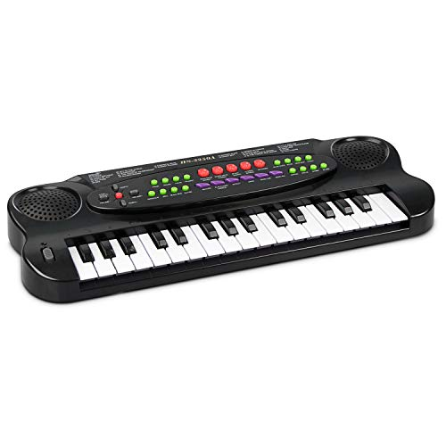 aPerfectLife Keyboard Piano for Kids, 32 Keys Multifunction Portable Piano Electronic Keyboard Music Instrument for Kids Early Learning Educational Toy (Black)