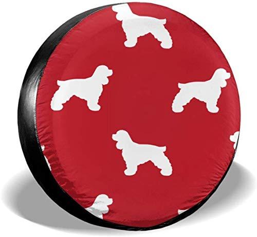 MODORSAN Silhouette Dog - Cubierta de Rueda de Repuesto para Llantas, de poliéster, Cubiertas de Ruedas universales para Jeep, Remolque, RV, SUV, camión, Accesorios, 16 Pulgadas