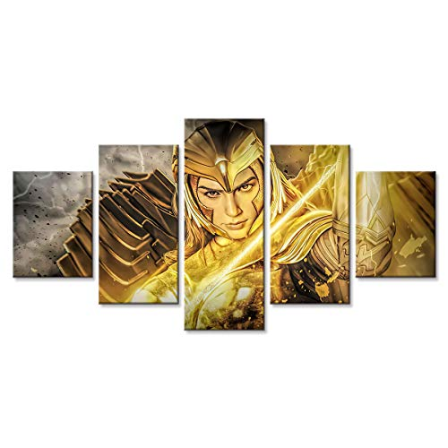 2020 Wonder Woman 1984 Movie Pieces Wall Art Modern Artwork Painting Print on Canvas Picture for Living Room Home Decoration Poster 67 (Unframed,8x12x2 8x18x2 8x22(inch))