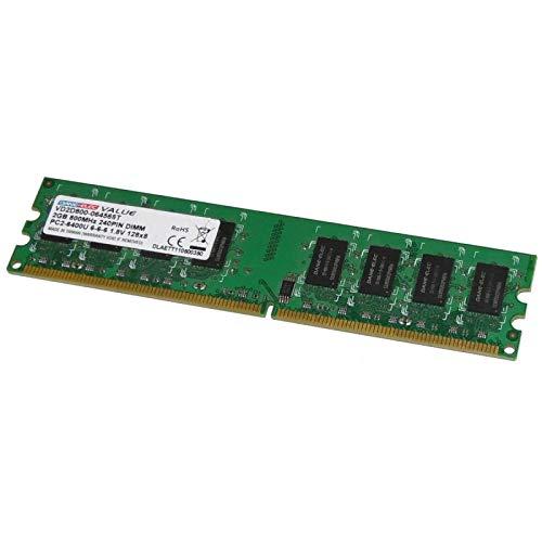 DANE-ELEC 2GB RAM vd2d800–064566t DIMM DDR2PC2–6400U 2Rx8PC Escritorio 800MHz