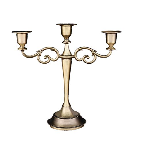 Zinklegierung Grosser Kerzenleuchter 3 Arme Kerzenstã¤Nder in Bronze Höhe 10.64in/27cm Candlestick Holder für Hochzeitsessen Candlestick Dekoration
