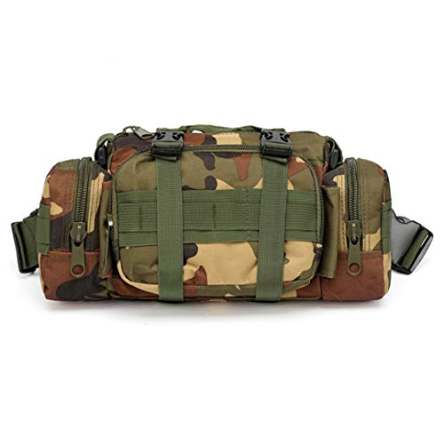 Motorhelay Telecamera Esterna Bag Camouflage Tasche Multifunzione Camera Army Tactical Esecuzione Pesca Spalla Sport Marsupio JungleCamo