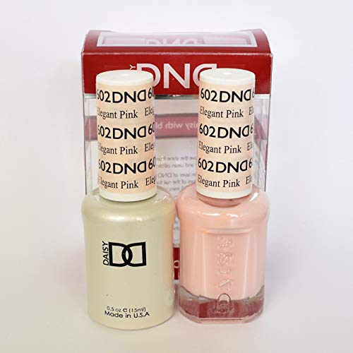 DND DAISY GEL UV NAIL POLISH - DUO SET(Gel + Lacquer) 602 - Elegant Pink