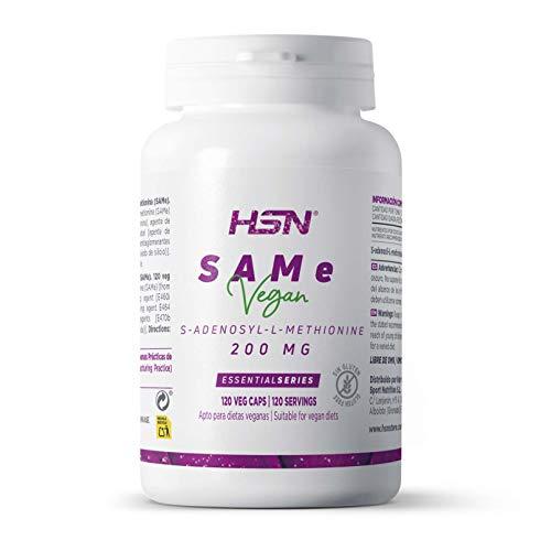 Same de HSN   200mg   S-Adenosil Metionina   Salud Hepática, Mejora del Estado de Ánimo, Reduce Dolor Crónico, Precursor Glutatión, Vegano, Sin Gluten, Sin Lactosa, 120 Cápsulas Vegetales