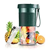 Portable Personal Size Blender for Shakes and Smoothies USB Rechargeable Cordless Mini Fruit Juicer...