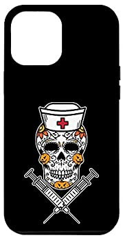 iPhone 12 Pro Max Sugar Skull Mexican Nurse RN Costume Cool Halloween Gifts Case