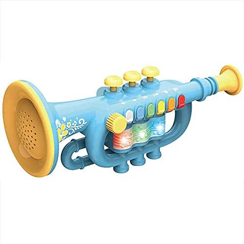 LHZMD Juguetes De Trompeta Ligeros Portátiles, Duraderos, Educativos Tempranos, Juguete De Trompeta Rosa, Instrumento Musical Electrónico para Bebés, Juguete Educativo para Niños,A