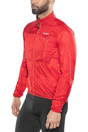Shimano Hybrid Windbreaker Jacket Men Red Größe L 2018 Wasserdichte Jacke