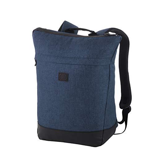 Rada Rucksack RS/36, Freizeitrucksack mit Lapto Tablet Fach, DIN A4 Ordner kompatibler Daypack für Mädchen und Jungen, wasserabweisender Daypack, Damen und Herren, Freizeit (Blue 2 Tone Cognac)