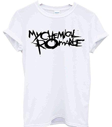 T-Shirt, Fan-Shirt der Band My Chemical Romance, MCR, Musik, Band, Rock, Punk, Konzert Gr. Small, weiß