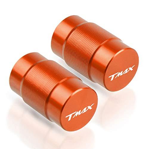 2 Piezas Tapas Válvulas para Neumáticos Motocicleta para Yamaha T MAX 530 2012-2015 TMAX 500 2008-2011 T-MAX 560 TMAX560 2020, Aluminio Prueba de Polvo Cubierta con Anillo de Sellado