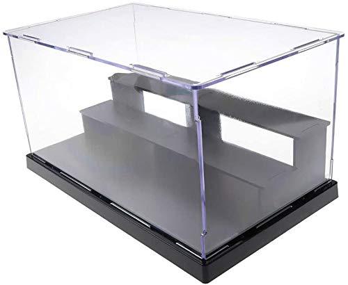 ELEpure Caja de exhibición de acrílico Transparente de 3 Niveles, ensamblaje de mostrador de Almacenamiento, Cubierta Antipolvo, Vitrina de Figuras de acción Pop, Juguete Coleccionable (25x14.5x17cm)