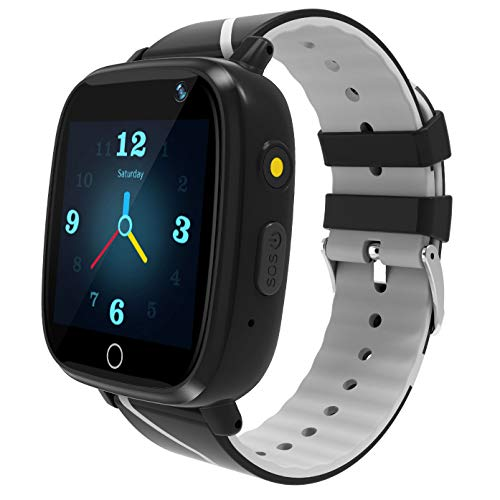 Kids Smart Watch GPS Tracker - Waterproof GPS Tracker Watch for Children Girls Boys with SOS Call Camera Touch Screen Game Alarm for Kids Boys and Girls (Black)