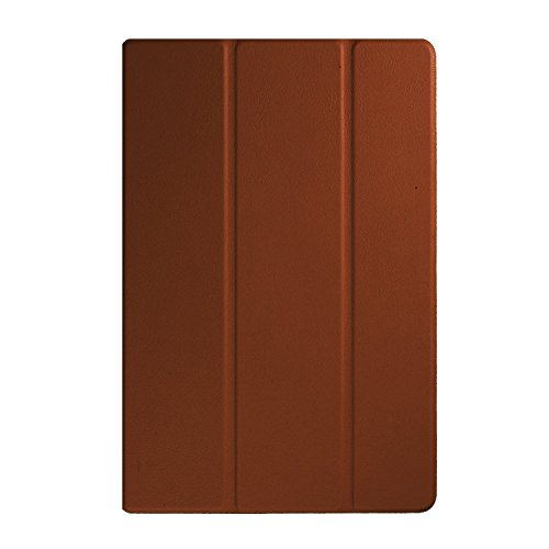 【PCATEC】 ASUS ZenPad 8.0 Z380M / Z380KL / Z380C / Z380KNL タブレット用 三つ折 カバー 薄型 軽量型 スタンド機能 PUレザーケース (ブラウン)