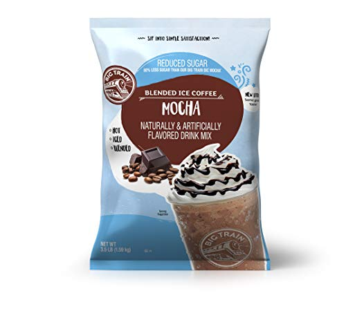 Big Train Blended Ice Coffee, Mocha, Reduced Sugar, 56 Ounce