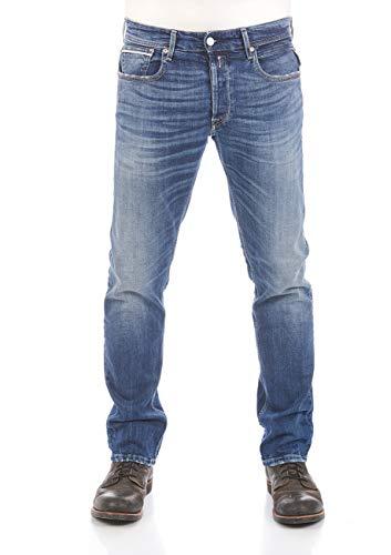 REPLAY Grover Vaqueros Straight, Azul (Dark Blue 7), 31 W / 32 L para Hombre