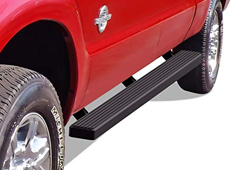 APS iBoard (Black Powder Coated 4 inches) Running Boards Nerf Bars Side Steps Step Rails Compatible with Ford F250 F350 Super Duty 1999-2016 Crew Cab