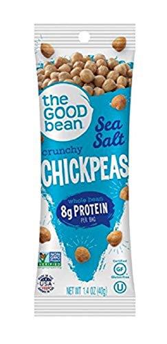 The Good Bean Chickpeas Snacks Grab & Go, Sea Salt, 1.4 Ounce, 10 Count