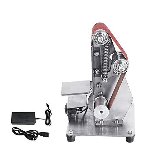 Vertikal Mini-Elektro-Bandmaschine, 350W DIY Polier Sander justierbare Geschwindigkeits-Gürtel Maschine