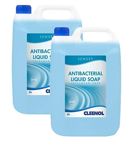 Cleenol 0770192X5 Senses Antibacterial Liquid Soap,Box of 2 x 5 Litres