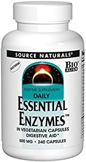 Source Naturals Essential Enzymes Daily - Digestive Aid - 240 Vegetarian Capsules