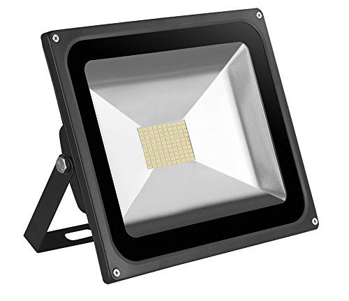 Leetop 80 Watt LED Flood Light SMD Flutlicht Außen Fluter Warmweiss Scheinwerfer Strahler Licht IP65 Gartenleuchte Security Light(1 Stücke)