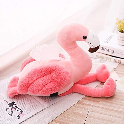 Taschentücherbox,Für Zuhause Büro Auto Home Auto Tissue Box Halter Pink Flamingo Tissue Box Cover Niedliche Auto Armlehne Box Tissue Case Dispenser Plüsch Mädchen Room Decor Spielzeug-Flamingo