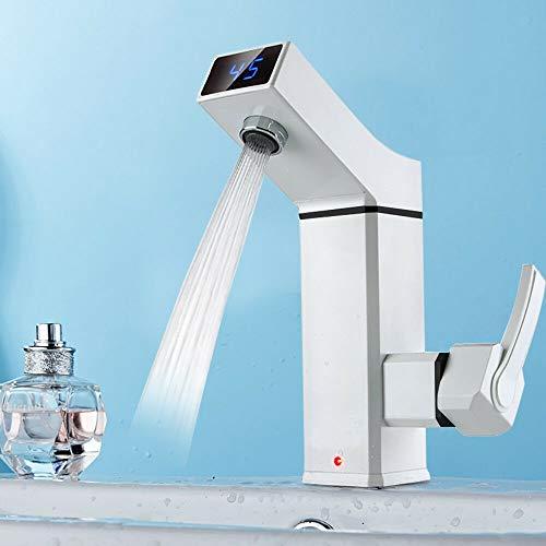 Elektrische Wasserhahn,3000W Sofortiger elektrischer Hahn Durchlauferhitzer mit Lcd-Temperaturanzeige, für Gästehäuser, Küche und Bad