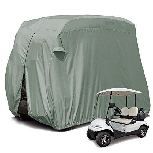 JLKDF Cubierta para Carrito de Golf para 2/4 pasajeros, Impermeable, prevención de Polvo, Resistente al Sol, Caja de Lujo para Carrito de Golf, Compatible con Todas Las Cubiertas estánda