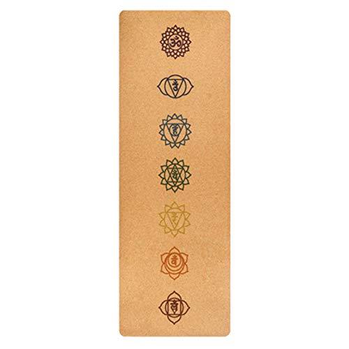 ZHANGYU Cork Yoga Mat - Non-Slip Sweatproof Surface - 100% Matériaux Recyclables - Antiderapant Tapis De Yoga Eco Friendly - en Liège Et TPE - Idéal pour Hot Yoga - Très Léger,Flesh
