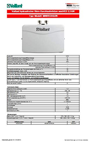 Vaillant VEDH3/2N