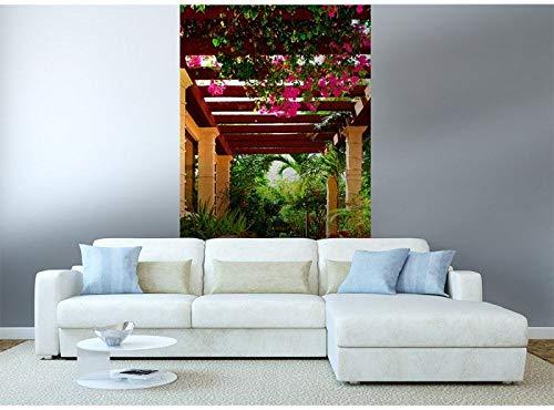 Vlies Fototapete TERRASSE 150 x 250 cm   Vliestapete - Wandtapete für Wohnzimmer Schlafzimmer Büro Flur   PREMIUM QUALITÄT - MADE IN EU - Inklusive Tapetenkleber
