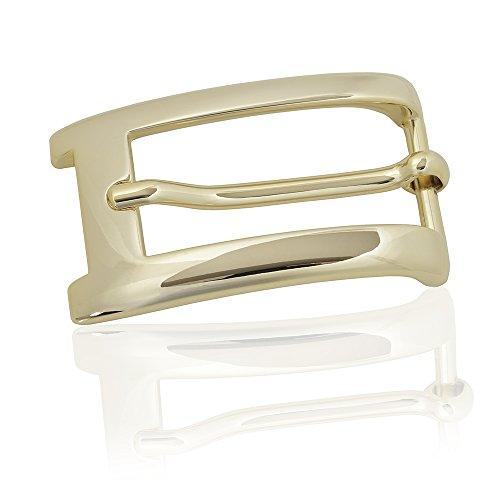 Gürtelschnalle Buckle 20mm Metall Gold Poliert - Buckle Milano - Dornschliesse Für Gürtel Mit 2cm Breite - Goldfarben Poliert