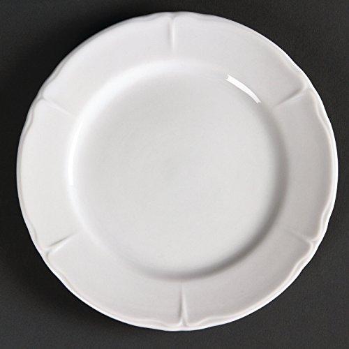 Olympia Rosa Lot de 12 assiettes rondes en porcelaine Blanc 163 mm