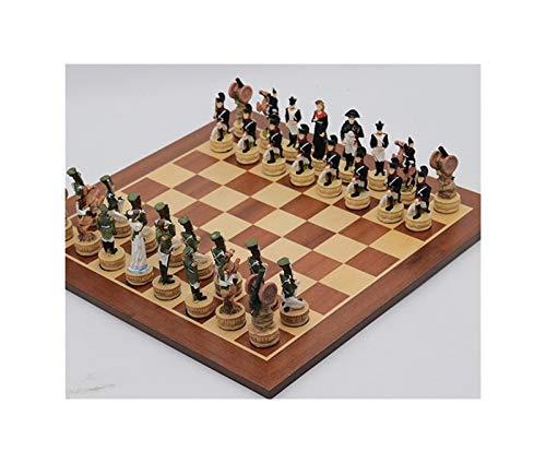 LINMAN Échecs Mise à thème Morceau d'échecs à thème Russie vs France Échecs Ensembles de la Carte Jeux de société Cadeau Enfant Cadeau International Chess (Color : Chess Set)
