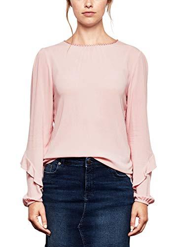 Q/S designed by - s.Oliver Damen 41.809.11.8690 Bluse, Pink (Mellow Pink 4056), 36
