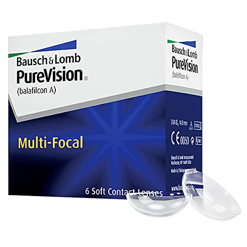 Purevision Multifocal Monatslinsen weich, 6 Stück BC 8.6 mm / DIA 14 / -5 Dioptrien / ADD High