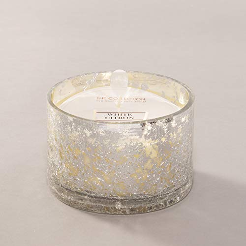Chesapeake Bay Candle Collection Three-Wick Scented Candle, Mercury Glass, White Citron