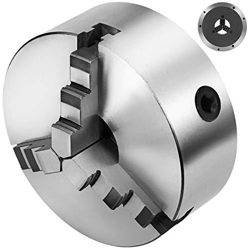 VEVOR Mandril para Torno 3 Mordazas K11-200 Torno Portabrocas Autocentrante Reversible Acero Endurecido 200 mm, Mandíbula de Torno de Alta Resistencia Precisión y Adaptabilidad,