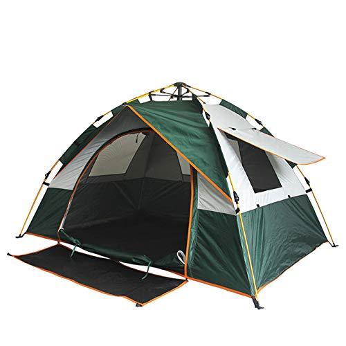 LYZL Carpa para Exteriores Carpa para Acampar De Una Puerta Y Tres Ventanas Completamente Automática, Ideal para Montañismo, Aventuras A Prueba De Agua, Picnic,Verde