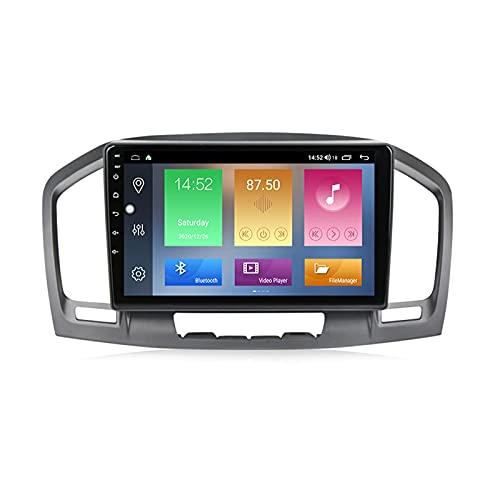 Android 10.0 Car Stereo 2 DIN Radio para Opel Insignia 1 2008-2013 Navegación GPS 9 '' Unidad Principal Reproductor Multimedia MP5 Receptor de Video con 4G / 5G WiFi Carplay