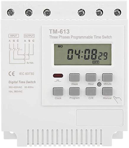 Relé de Tiempo programable de 380 V TM-163 50-60Hz Mini Apagado Inteligente Control programable semanal Digital Interruptor de Temporizador de energía 3 Fases Estanque de Peces Oxigenación Calent