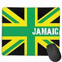 ジャマイカ王国の旗 マウスパッド ノンスリップ 防水 高級感 習慣 パターン印刷 ゲーミング ホビー 事務 おしゃれ 学習