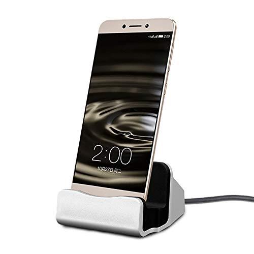 Estación de Carga para Xiaomi Mi 9 SE Smartphone Tipo C Soporte Cargador Escritorio (Plata): Amazon.es: Electrónica