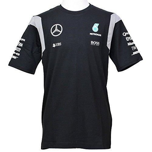 MERCEDES AMG PETRONAS Herren Mercedes AMG Team Tee 2016 Black, L T-Shirt, schwarz, L