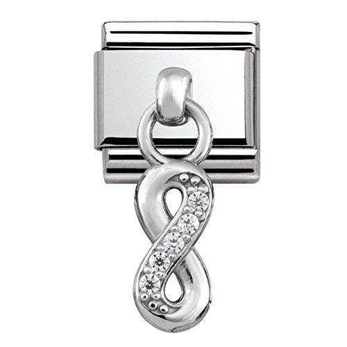 Nomination Damen-Charm 925 Silber Zirkonia weiß - 331800/10