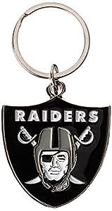 NFL Siskiyou Sports Fan Shop Las Vegas Raiders Chrome & Enameled Key Chain One Size Team Colors from Siskiyou Gifts Co, Inc.