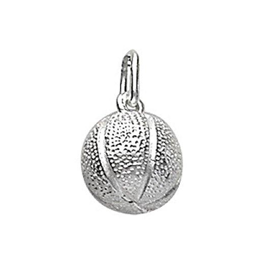 FranceBijoux - Ciondolo in argento massiccio 925, motivo: pallone da basket, 2 g